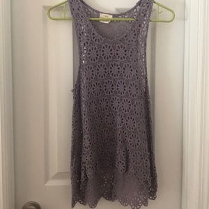 Pins and Needles Crochet Tank Size S